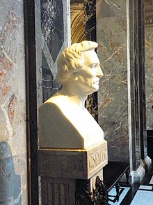The bust of the architect G Semper.. Kunsthistorisches Museum, Vienna, Austria