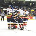 The colts celebrate a goal by Bryan Little during the second period.jpg