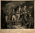 The death of General Abercromby on the battlefield at Alexandrie. Col Wellcome V0006906.jpg