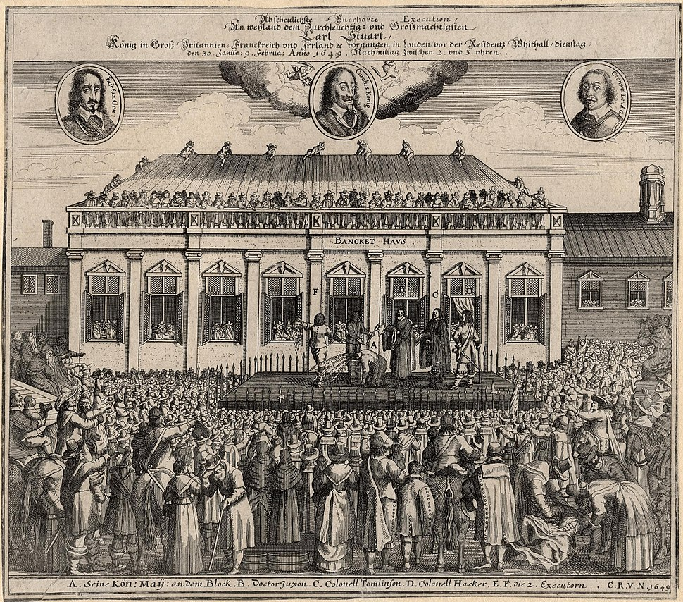 The execution of King Charles I from NPG
