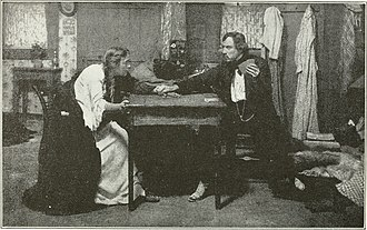 Frank Keenan - Blanche Bates and Keenan in the original Broadway production of The Girl of the Golden West (1905)