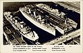 The three largest ships in the world, New York, 1940 - photographic postcard (3796186285).jpg