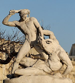 Theseus fighting the Minotaur by Étienne-Jules...