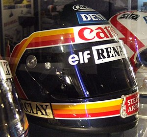 Thierry Boutsen - Boutsen's helmet on display at the Williams team's museum