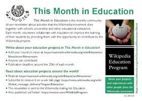 Flyer This Month in Education