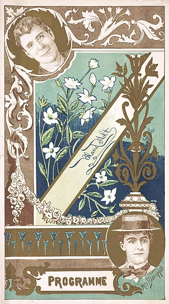 Bland Holt - Theatrical program cover for a performance by Bland Holt (1899)