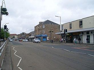 Thornliebank - Image: Thornliebank Main Street geograph.org.uk 1352372