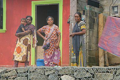 Three females and mother Negombo Sri Lanka.jpg