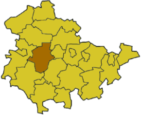 Poziția localității Gotha (district)