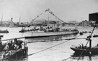 Greek destroyer <i>Thyella</i> (1907)