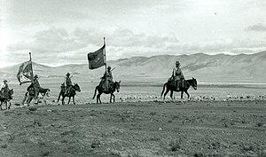 Flag of Tibet - Tibetan Flag in Tibet in the 1940s