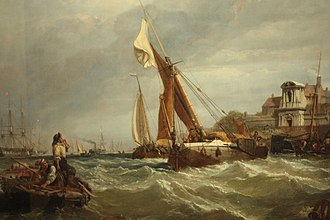 Clarkson Frederick Stanfield - Tilbury Fort - Wind Against Tide by Clarkson Stansfield, 1849