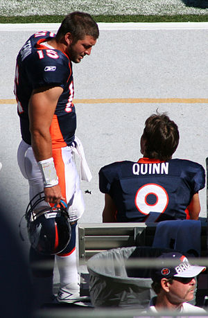 Brady Quinn - Quinn and Tim Tebow in 2010