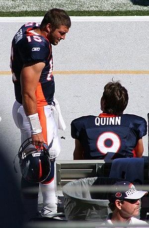 Brady Quinn - Quinn and Tim Tebow in 2010