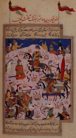 Tokhtamysh - Timur and his troops gather to launch a war against the Golden Horde Khan Tokhtamysh.
