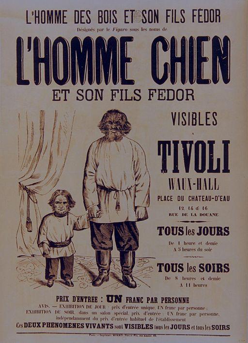 Tivoli - L'Homme chien et son fils Fédor