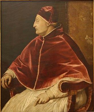 Della Rovere - Image: Tizian Portrait Papst Sixtus IV ca. 1545 46 Uffizien Florenz 01 (cropped)