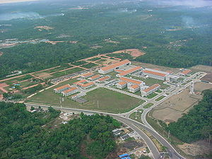 O conjunto de pr�dios do SIVAM em Manaus - Julho de 2002.