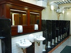 Upscaled public toilets on the Hayes, Cardiff, United Kingdom