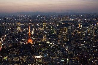 Shin Megami Tensei - Image: Tokyo tower aerial night