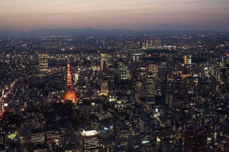 File:Tokyo tower aerial night.jpg