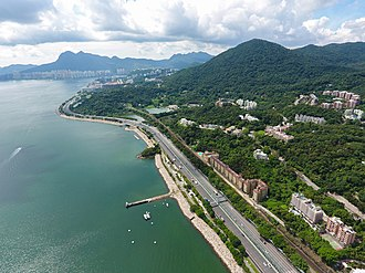 Tolo Highway - Aerial view of Tolo Highway at Tai Po Kau