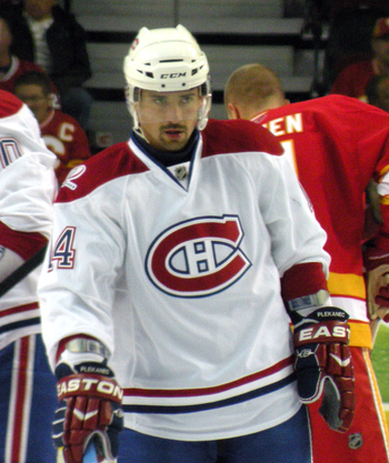 English: Montreal Canadiens forward Tomas Plek...