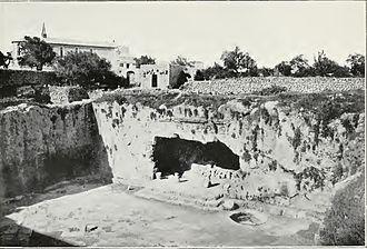 Tombs of the Kings (Jerusalem) - Image: Tombs of kings 1903