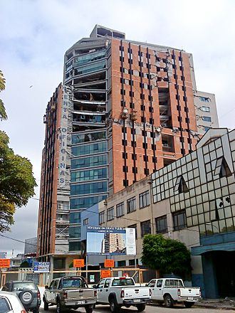 2010 Chile earthquake - The partially collapsed 21-story O'Higgins Tower, Concepción
