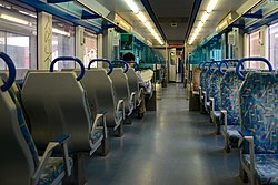 Train interior of portuguese train type 3150-3250 (7840466610).jpg