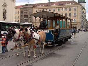 Tram horse tram Brno