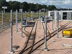 Trams at the depot (geograph 3577895).jpg