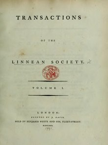 Transactions of the Linnean Society of London, Volume 1 (1791).djvu