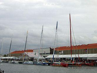Transat Jacques Vabre - View of multihulls during the Transat Jacques Vabre, 6 November 2005, Le Havre