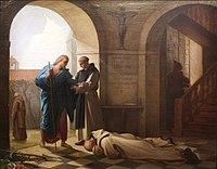 Trappist monks welcoming a stranger by Jules-Joseph Dauban-IMG 6970.JPG