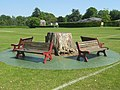 Tree Stump and Benches - geograph.org.uk - 1321541.jpg