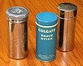 Trio Of Vintage Shaving Stick Tins, From Left - Colgate Handy Grip, Colgate Shave Stick & Williams Shaving Stick.jpg