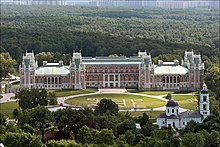 The grand palace in Tsaritsyno