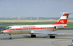 Tupolev Tu-134 der Interflug