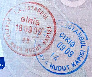 English: Turkey Visa Stamp