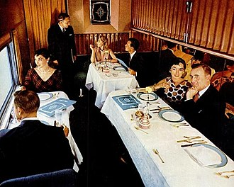 Pleasure Dome (railcar) - Image: Turquoise Room Santa Fe Super Chief 1951