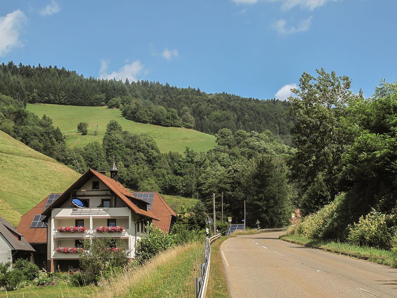 Filetussen Eschbach En Sankt Peter, Wegpanorama Foto4