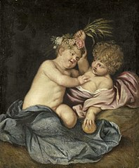 Two playing children