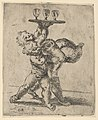 Two naked boys carrying a third who supports a tray with three goblets, after Reni MET DP837845.jpg