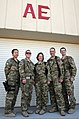 U.S. Airmen with the 455th Expeditionary Aeromedical Evacuation Squadron pose for a photo at Bagram Airfield, Afghanistan, May 29, 2013 130529-F-ZX232-008.jpg