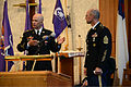 U.S. Army Command Sgt. Maj. Robert M. Haglund, left, introduces Command Sgt. Maj. Peter J. Running as the new senior enlisted leader for the 353rd Civil Affairs Command, during a change of responsibility 130519-A-BD830-002.jpg