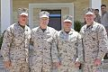 U.S. Marine Corps Gen. James F. Amos, center left, the commandant of the Marine Corps, and Sgt. Maj. of the Marine Corps Micheal P. Barrett, right, stand for a photo with Marines assigned to Special Purpose 130616-M-LU710-012.jpg