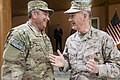 U.S. Marine Corps Gen. Joseph F. Dunford Jr., right, the outgoing commander of the International Security Assistance Force and U.S. Forces-Afghanistan, talks with Supreme Allied Commander Europe U.S. Air Force 140826-D-HU462-307.jpg