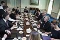 U.S. Secretary of Defense Chuck Hagel, right center, meets with Poland Minister of Defense Tomasz Siemoniak at the Pentagon in Arlington, Va., April 17, 2014 140417-D-EV637-048.jpg