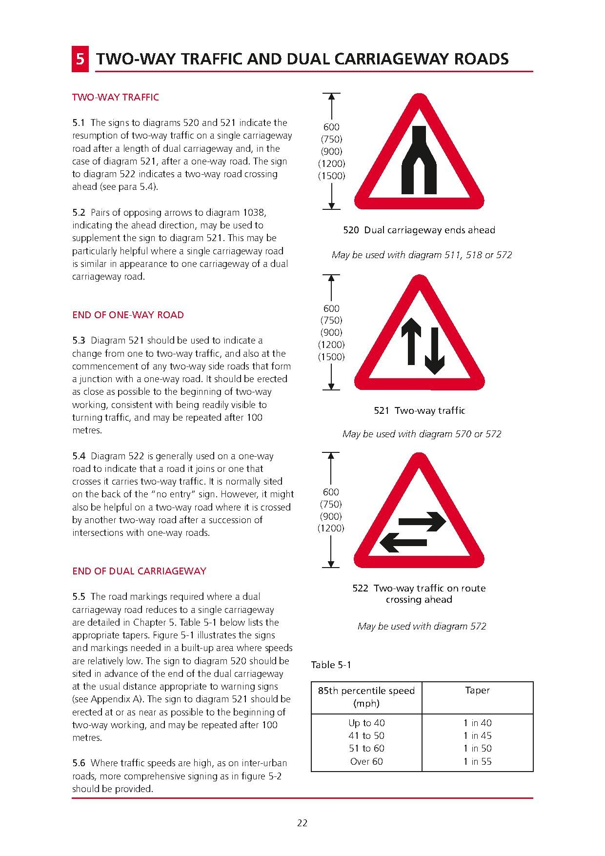 Page Uk Traffic Signs Manual - Chapter 4
